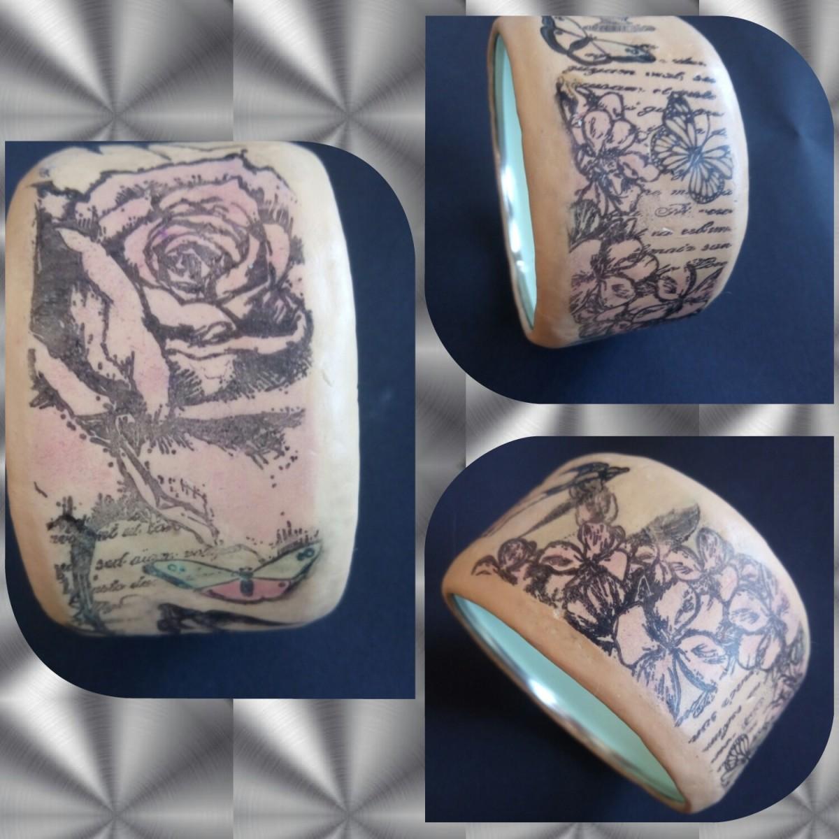 DIY – Romantisches Fimo Armband mitStempeldruck